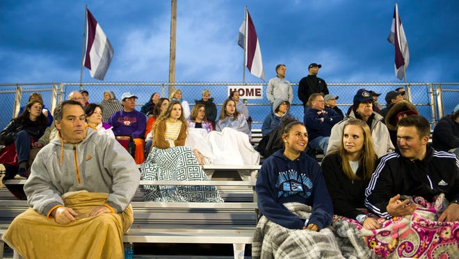 Fans watch a game at Bearden High School for the Bearden Invitational between Hardin Valley and Hendersonville on Friday, March 31,2017.