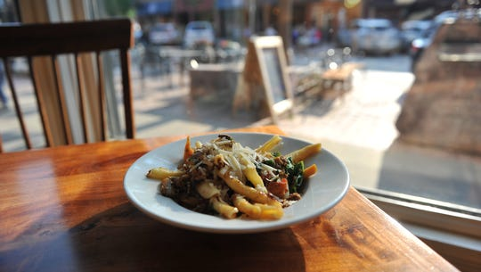 The Italian sausage and brassica pasta from M.B. Haskett's