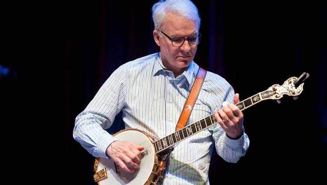 Steve Martin performs with the Steep Canyon Rangers at the Warner Theater in Torrington, CT for  PBS on June 30, 2011.