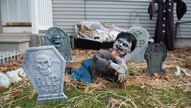 Home of Scott and Lisa Bryan of Bellmawr where they expect about 1,000 trick-or-treaters. Wednesday, October 29, 2014.