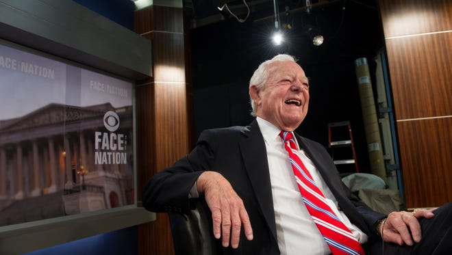 """Bob Schieffer hosts CBS morning show """"Face the Nation"""" as it turns 60 years old."""
