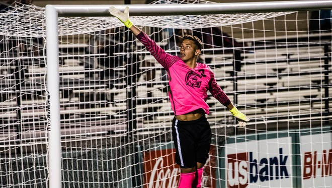Corban University goalkeeper Jordan Farr, and the Warriors men's soccer program will look to keep their season alive as they take on defending national champion Hastings College Saturday.