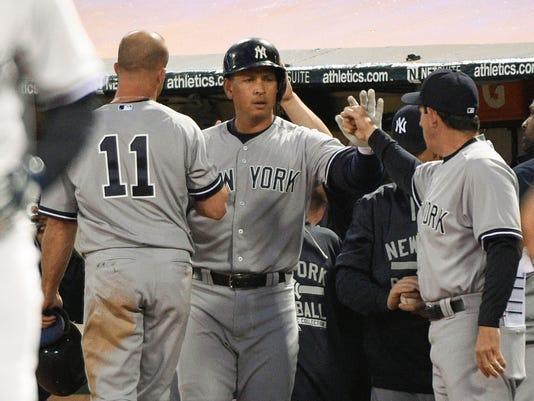 USP MLB: NEW YORK YANKEES AT OAKLAND ATHLETICS S BBA USA CA