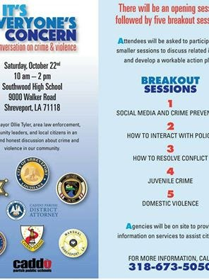 It's Everyone's Concern will take place from 10 a.m. to 2 p.m. Saturday at Southwood High School in Shreveport.