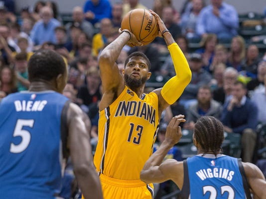 NBA: Minnesota Timberwolves at Indiana Pacers