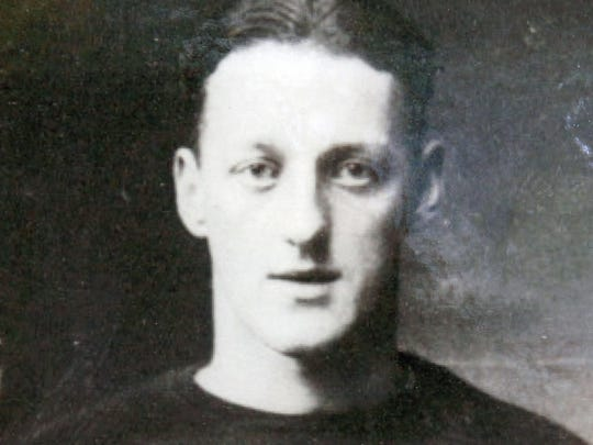 Swede Hanson in 1925 as a star football player at Leonardo High School, before going on to play at Temple and with the Philadelphia Eagles.
