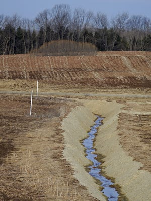 Outagamie County and the Wisconsin Department of Natural Resources ordered temporary erosion controls earlier this year along an illegally dredged stream and karst feature on farmland west of State 76 in Greenville.