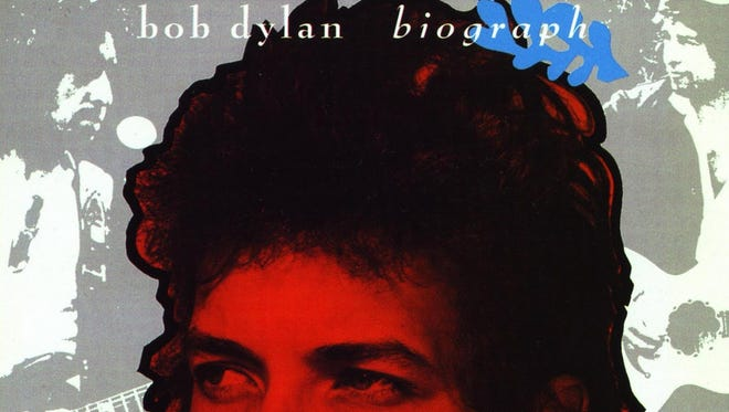 """The cover to the 1985 box set compilation """"Biograph"""" by Bob Dylan."""