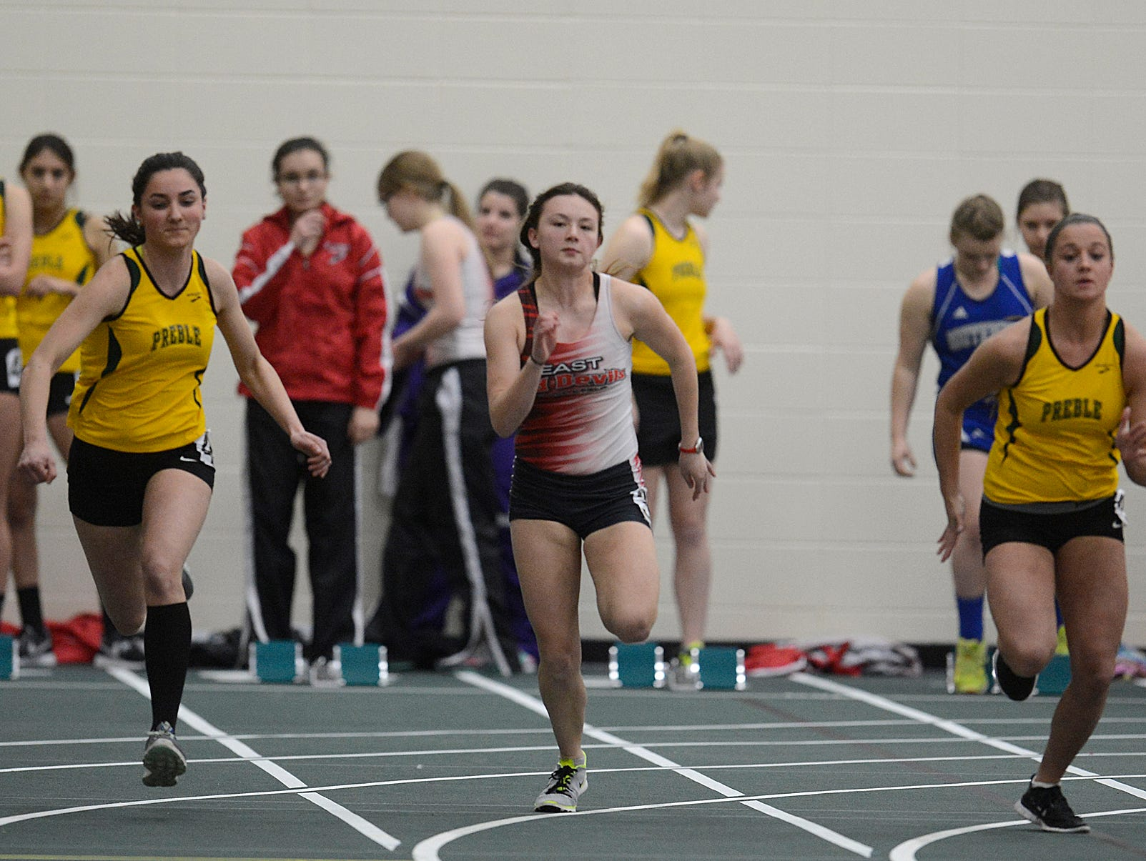 The 16th annual Preble Indoor Invitational at Green Bay Preble High School on Wednesday, March 18, 2015.
