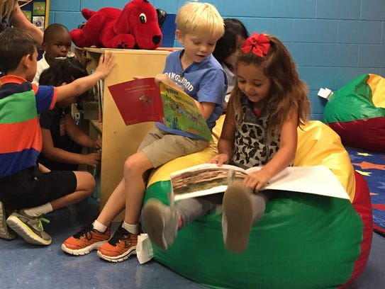 A new reading room has been added at Orangewood Elementary