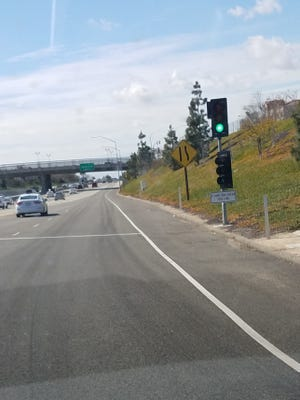 Caltrans activated the traffic meter at the Highway 101 Lewis Road on-ramp on Thursday, the first to be added in Camarillo.