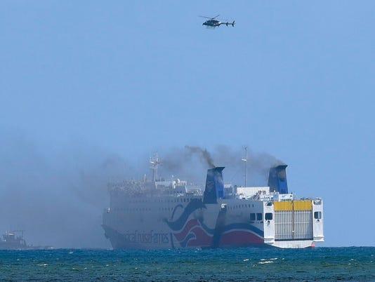 AP PUERTO RICO CRUISE SHIP FIRE I PRI