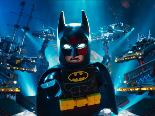 """Batman, voiced by Will Arnett, in a scene from """"The LEGO Batman Movie."""" The movie was No. 1 at the box office for a second week."""