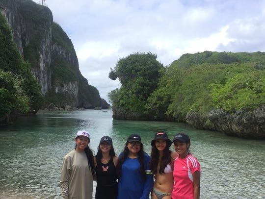 From left: Jonette Gutierrez, Sheena Vista, Lauren Delamar, Laura Gombar and Julie Noreene Quibuyen after hiking down Spanish Steps in this file photo.