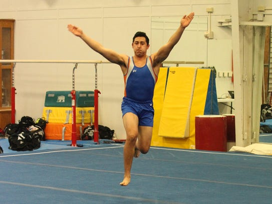 San Angelo Central High School's Miguel Madrid was one of six Bobcat seniors who wrapped up their careers at the 2018 Texas High School State Gymnastics Championships in Rockwall on Saturday.