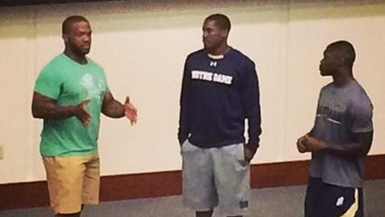 Former Ohio State running back Maurice Clarett spoke with the Notre Dame football team