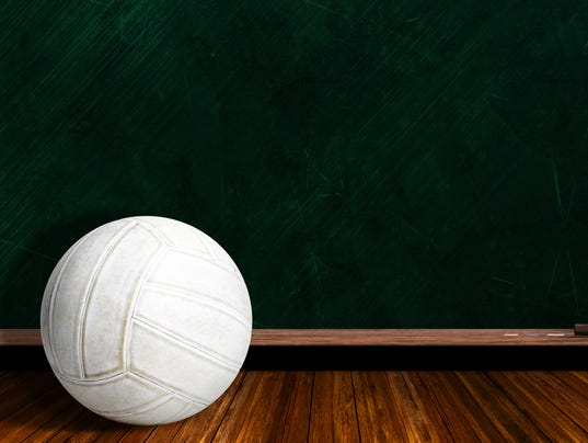 Game Concept With Volleyball and Chalk Board Background