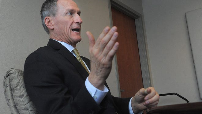 Gov. Dennis Daugaard speaks with AL Media on Tuesday, Jan. 26, 2016.