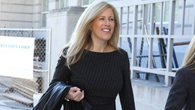 Deborah Gramiccioni outside federal court on Tuesday, Oct. 11, 2016.