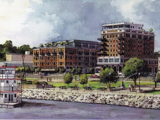 A rendering of the Hotel Stanley in Muscatine, which is part of the city's Reinvestment District. Muscatine was one of three cities that moved ahead during the first round of Reinvestment Districts in 2014.