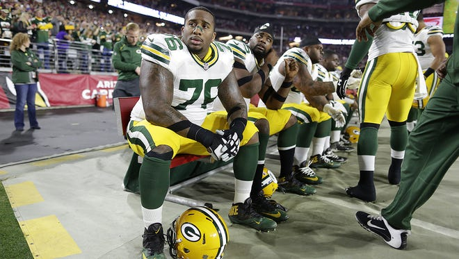 Green Bay Packers defensive tackle Mike Daniels (76) before the NFC divisional playoff game against the Arizona Cardinals at University of Phoenix Stadium in Glendale, Ariz.