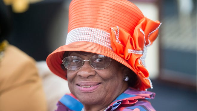 Clara Stigall, of York, wore one of the many hats and traditional head wraps that participants were wearing during the 23rd annual African/African-American Love Feast Sunday at the Wyndham Garden in West Manchester Township, during which 14 community members were honored.