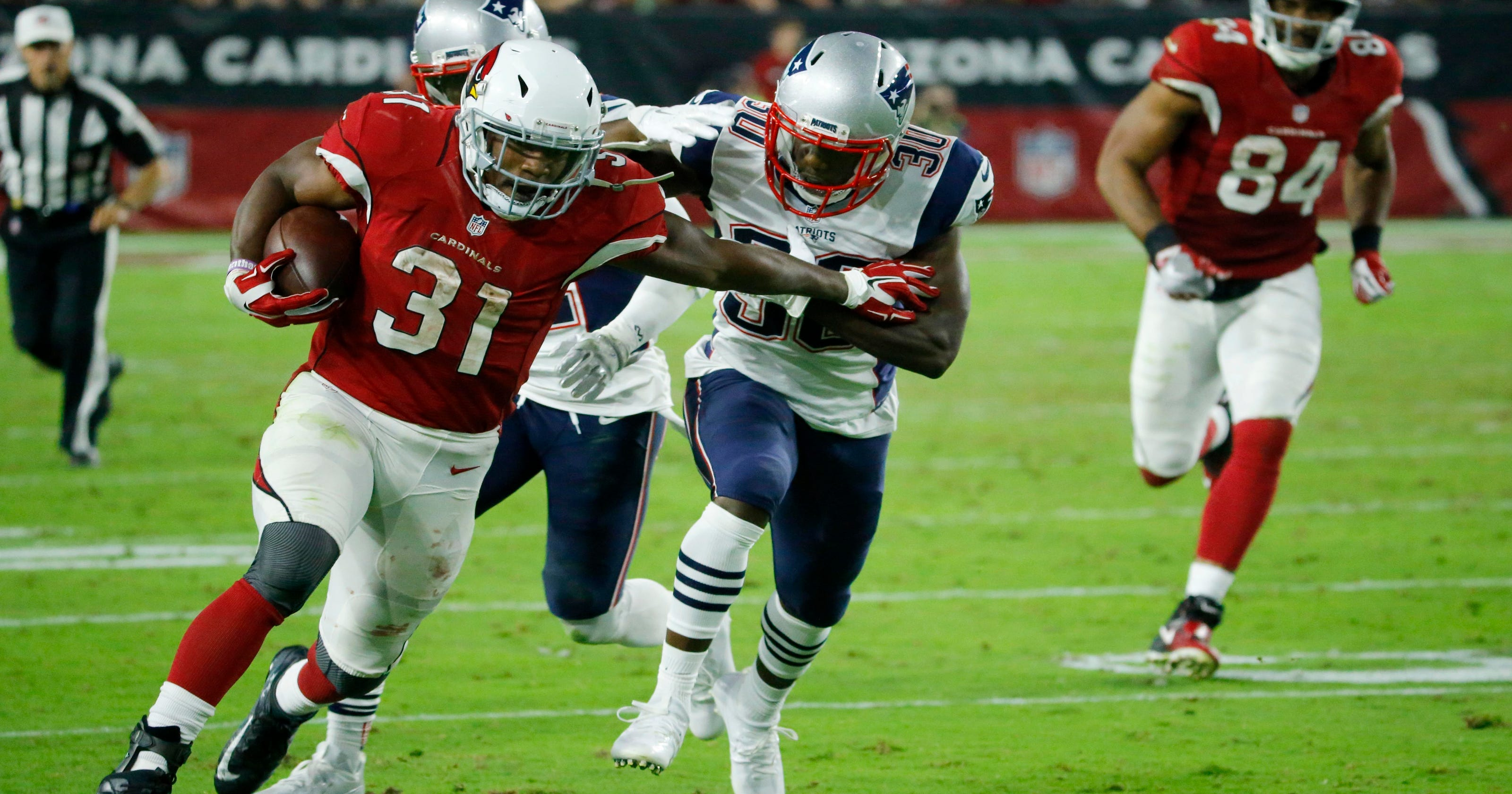 Arizona Cardinals  RB monster missing in Week 1 b73a6d09a