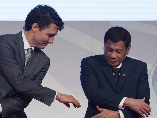 Justin Trudeau, Nguyen Xuan Phuc, Rodrigo Duterte