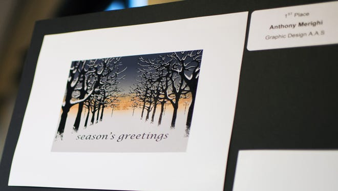 This design helped Buena's Anthony Merighi win the Cumberland County College holiday card design competition.