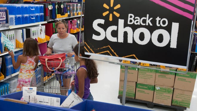 Back to School shopping at Walmart in Neptune.-August 26, 2015-Neptune, NJ.-Staff photographer/Bob Bielk/Asbury Park Press
