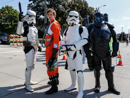 Members of the 501st Legion pose for a picture at Sputnikfest at the Rahr-West Art Museum in September 2017 in Manitowoc.