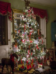 "Macculloch Hall Historical Museum's Christmas tree. The museum is part of the Morris County Tourism Bureau's Annual ""Holly Day,"" a chance to visit six Morris County historic sites on Saturday."