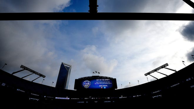 CHARLOTTE, NC - DECEMBER 30:  General view of Bank of America Stadium before the Belk Bowl between the Louisville Cardinals and the Georgia Bulldogs on December 30, 2014 in Charlotte, North Carolina.  (Photo by Grant Halverson/Getty Images)