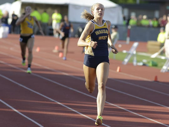 Wausau West's Brooke Jaworski broke the Division 1