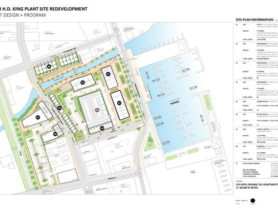 This site plan shows the most recent proposal from
