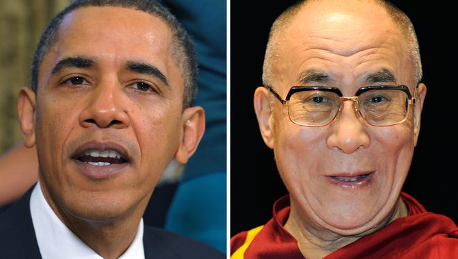President Obama and the Dalai Lama.