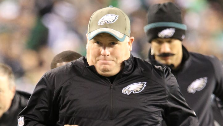 Chip Kelly was 26-21 in three seasons as the Eagles'