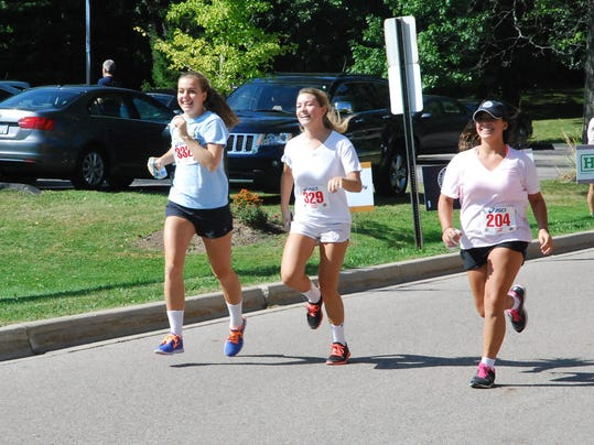 Runners approach the finish line at the Heart of Oak IV event on September 8.JPG