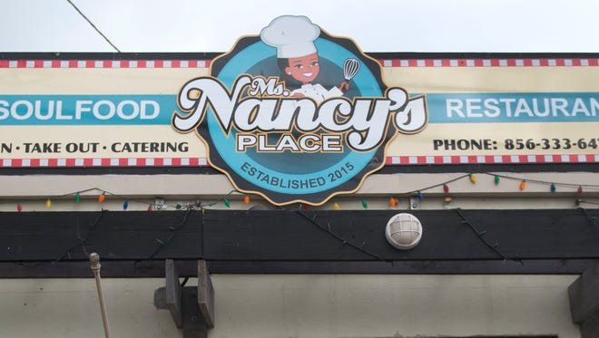 Exterior of Ms. Nancy's Place in Merchantville , where soul food gets a healthier update.