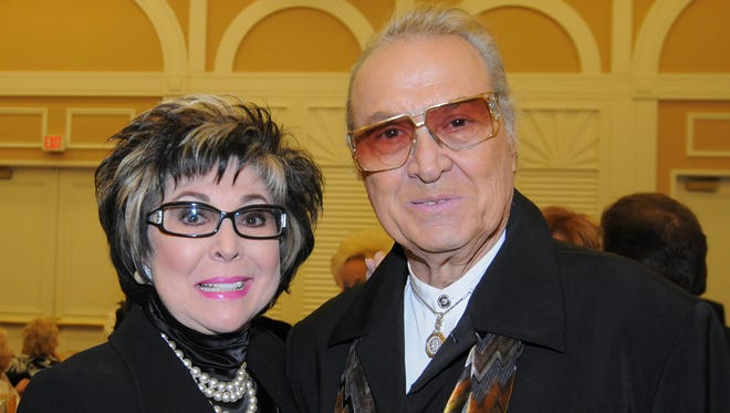 Steve Rossi, right, is shown with former Nevada Lt. Gov. Lorraine Hunt-Bono at the Flamingo Hotel in Las Vegas on Dec. 13, 2009.