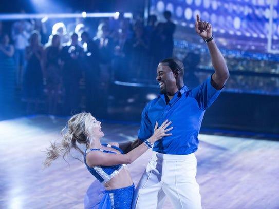 "Calvin Johnson danced a cha-cha-cha to Flo Rida's ""That's"