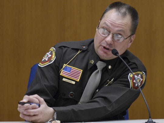Manitowoc County Sheriff's Sgt. Andrew Colborn testified during the seventh day of Steven Avery's homicide trial at the Calumet County Courthouse on Feb. 20, 2007 in Chilton. He is one of two Manitowoc County deputies accused of planting evidence at Avery's home to frame him for the murder of photographer Teresa Halbach.