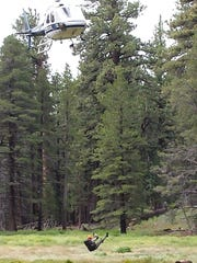 A 28-year-old woman from Cerritos is airlifted out of Mount San Jacinto State Park July 20.