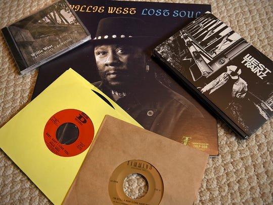 Singer Willie West has been back in the studio and shows some of his recent work Thursday, Jan. 14 at his St. Cloud home.