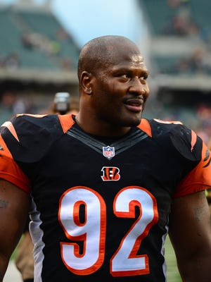 James Harrison as a Bengal in December of 2013.