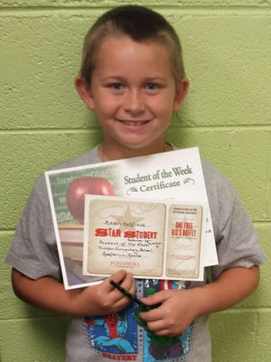 Dickson Elementary Student of the Week, Sept. 28 - Mason Hatfield.