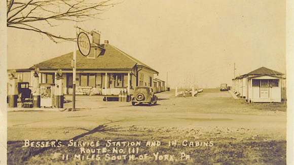 "Another view of Beeser's, a restaurant ""11 miles south of York."""