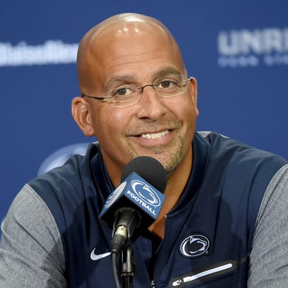Penn State head coach James Franklin is working on