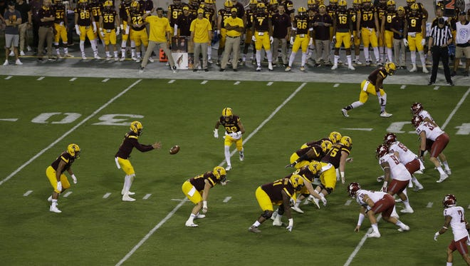 Arizona State offense against Washington State  during PAC-12 action on Saturday, Oct. 22, 2016 in Tempe, Ariz.