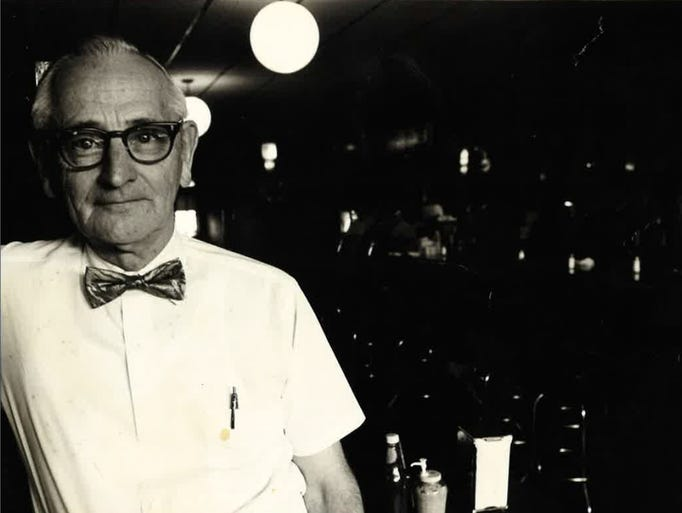 An undated photo of Jim Wallace, owner of George's Buffet from 1962 to 1989 at the tavern in Iowa City. George's is celebrating its 75th-anniversary on Friday with a two-day music festival and a walk down memory lane.